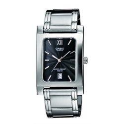 Casio Herren-Armbanduhr Analog Quarz Edelstahl BEM-100D-1AVEF