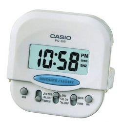 Casio - PQ-30B-7EF - Alarm Clock - Quarzuhrwerk - Alarm - Bracelet Edelstahlband silber