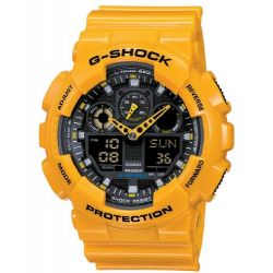 Casio G-Shock Herren-Armbanduhr Anaolg/ Digital Quarz GA-100A-9AER