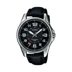 Casio Herren-Armbanduhr XL Casio Collection Analog Quarz Leder MTP-1372L-1BVEF