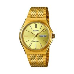 Casio Unisex-Armbanduhr CASIO COLLECTION Analog Quarz Edelstahl MTP-1348G-9AEF