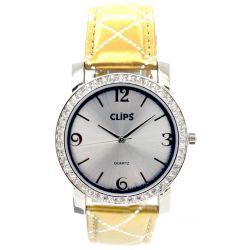 Clips Damen-Armbanduhr Analog Quarz Leder 554-1054-82