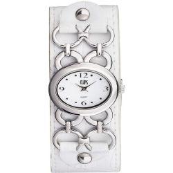Clips Damen-Armbanduhr Analog Quarz Leder 553-1009-11