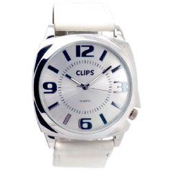 Clips Damen-Armbanduhr Analog Quarz Leder 554-1045-11