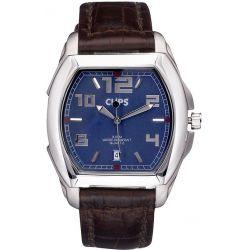 Clips Herren-Armbanduhr Analog Quarz Leder 548-6005-93