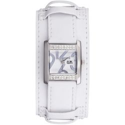 Clips Damen-Armbanduhr Analog Quarz Leder 553-1007-11