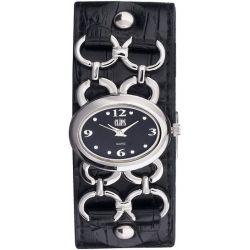 Clips Damen-Armbanduhr Analog Quarz Leder 553-1009-44