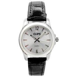 Clips Damen-Armbanduhr XS Analog Quarz Leder 554-1046-84