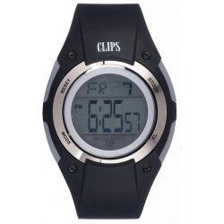 Clips Herren-Armbanduhr Digital Quarz Kautschuk 557-6005-44