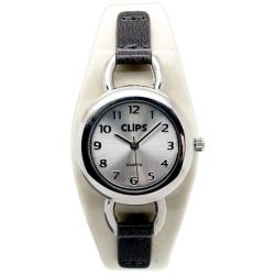 Clips Damen-Armbanduhr XS Analog Quarz Kunstleder 554-1052-81