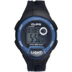 Clips Herren-Armbanduhr Digital Quarz Kautschuk 539-6004-94