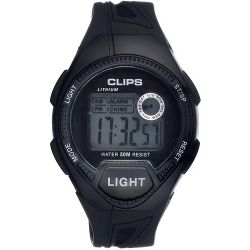 Clips Herren-Armbanduhr Digital Quarz Kautschuk 539-6004-44