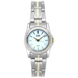 Citizen Damen-Armbanduhr XS Eco-drive Analog Quarz Edelstahl EP5160-65A
