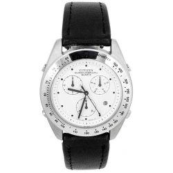 Citizen Herren-Armbanduhr XL Chronograph Quarz Leder AA4950-06A