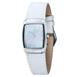 Cross Damen-Armbanduhr Arial Analog Leder Weiß CR9005-02