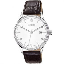 Dugena Herren-Armbanduhr XL Dugena Premium Analog Quarz Leder 7000245