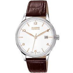 Dugena Herren-Armbanduhr XL Dugena Premium Analog Quarz Leder 7000247