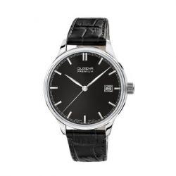 Dugena Herren-Armbanduhr XL Dugena Premium Analog Quarz Leder 7000251