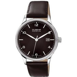 Dugena Herren-Armbanduhr XL Dugena Premium Analog Quarz Leder 7000248