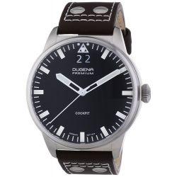 Dugena Herren-Armbanduhr XL Dugena Premium Analog Quarz Leder 7000176