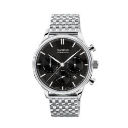 Dugena Herren-Armbanduhr XL Dugena Premium Analog Quarz Leder 7090201