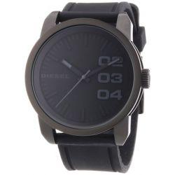 Diesel Herren-Armbanduhr XL Franchise-46 Analog Quarz Silikon DZ1446