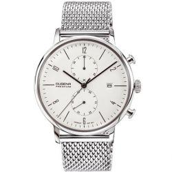 Dugena Herren-Armbanduhr XL Dugena Premium Chronograph Quarz Edelstahl 7090239