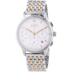 Dugena Herren-Armbanduhr XL Dugena Premium Chronograph Quarz Edelstahl 7090242