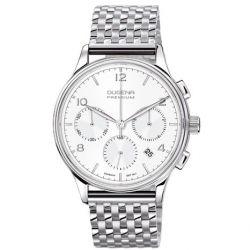 Dugena Herren-Armbanduhr XL Dugena Premium Chronograph Quarz Edelstahl 7090240