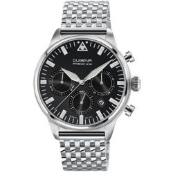 Dugena Herren-Armbanduhr XL Dugena Premium Chronograph Quarz Edelstahl 7090179