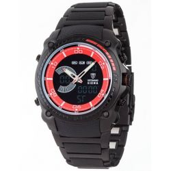 Detomaso Herren-Armbanduhr XL SIENA DIGITAL schwarz/schwarz Trend Analog - Quarz Edelstahl DT2037-B