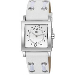 Edc Damen-Armbanduhr Lacy Passion - Disco White Analog Quarz Kunstleder EE100712005
