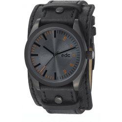 Edc Herren-Armbanduhr XL Chillin Dude Analog Quarz Kunstleder EE100341008
