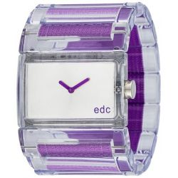 Edc Damen-Armbanduhr Flashy Crossover Analog Quarz Plastik EE900202006