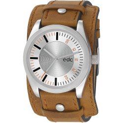Edc Herren-Armbanduhr XL Chillin Dude Analog Quarz Kunstleder EE100341006