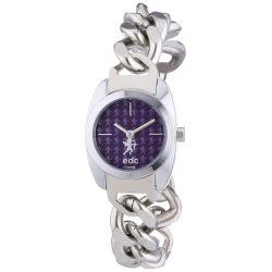 Edc Damen-Armbanduhr XS velvet moonlight-sparkling silver Analog Quarz Edelstahl EE100252003