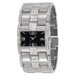 Elite Damen-Armbanduhr E52704-203 Analog Quarz Schwarz E52704-203