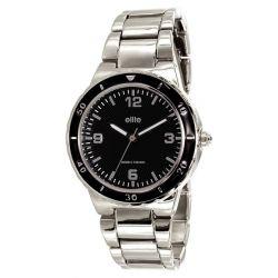 Elite Damen-Armbanduhr E53044-203 Analog Quarz Silber E53044-203
