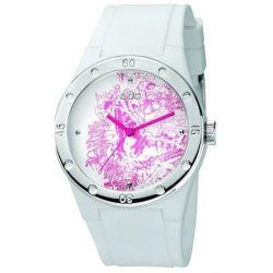 Edc Damen-Armbanduhr Fresh Allure Pure White Analog Quarz Plastik EE100472004