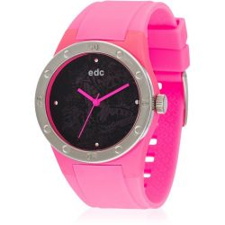 Edc Damen-Armbanduhr Fresh Allure Glowing Pink Analog Quarz Plastik EE100472002