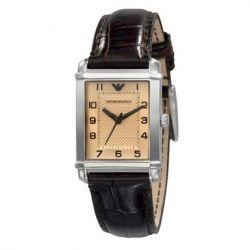 Emporio Armani Damen-Armbanduhr Classic Angelo Analog Quarz Leder AR0491