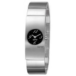 Esprit Damen-Armbanduhr Python Flow Silver Black Analog Quarz Edelstahl ES000A12022