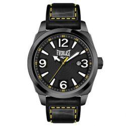 Everlast Herren-Armbanduhr 33-215 Analog leder schwarz EV-215-004