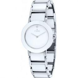 Fjord Unisex-Armbanduhr Celilia Analog Keramik Weiß FJ-6004-22