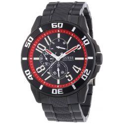 Guess Herren-Armbanduhr XL RACER Analog Quarz Edelstahl W18550G1