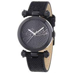 Guess Damen-Armbanduhr XS LOGO GLITZ Analog Quarz Leder W0057L4