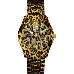 Guess Damen-Armbanduhr Fierce Analog Quarz Edelstahl W0001L2