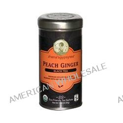 Zhena's Gypsy Tea, Peach Ginger Black Tea, 22 Tea Sachets, 1.55 oz (44g)