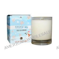 Way Out Wax, Holiday Glass Tumbler Candle, Peppermint Snow, 1 Candle, 6 oz (170 g)