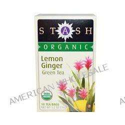 Stash Tea, Organic Premium, Green Tea, Lemon Ginger, 18 Tea Bags, 1.2 oz (36 g)
